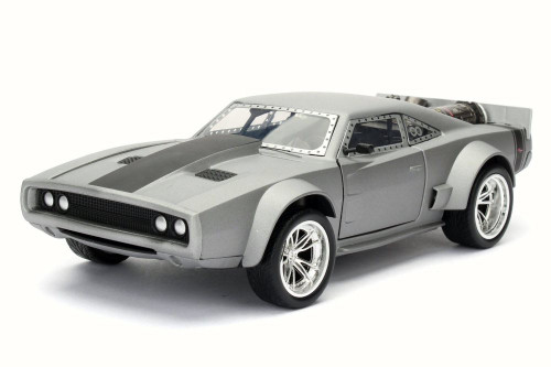Dom's Ice Charger F8 Fate of Furious, Gun Metal - Jada 98291 - 1/24 Scale Diecast Model Toy Car