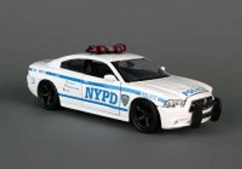 NYPD Dodge Charger, White - Daron NY71693 -1/24 Scale Model Toy Car