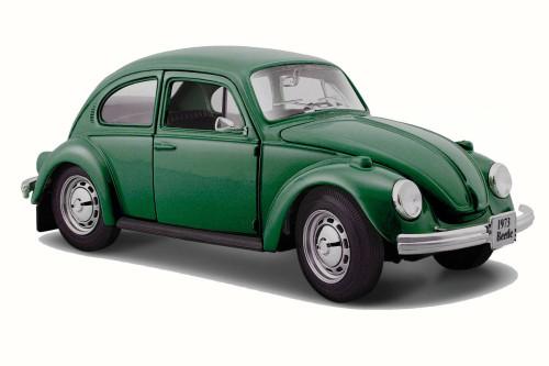 1973 Volkswagen Beetle, Green - Maisto 31926 - 1/24 Scale Diecast Model Toy Car