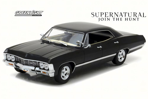 1967 Chevy Impala Sport Sedan, Supernatural - Greenlight 84032 - 1/24 Scale Diecast Model Toy Car