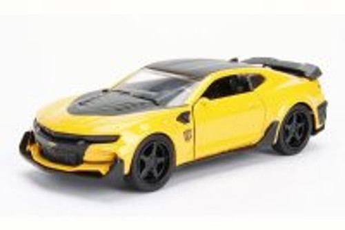 2016 TRANSFORMERS 5 Chevy Camaro Bumblebee, Yellow w/Black - Jada 98505 - 1/24 Scale Diecast Model Toy Car