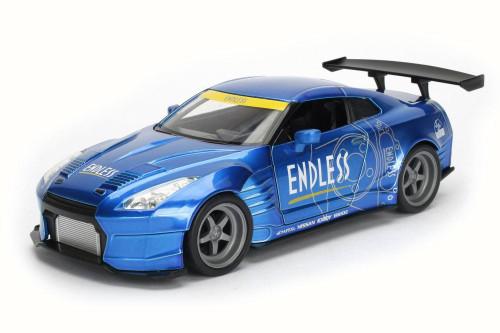 2009 Nissan GT-R Ben Sopra, Metallic Blue - Jada 98558DP1 - 1/24 Scale Diecast Model Toy Car