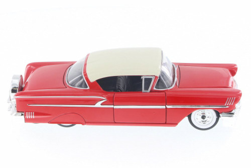 1958 Chevy Impala SS Hard Top, Red - Jada 98897-MJ - 1/24 Scale Diecast Model Toy Car