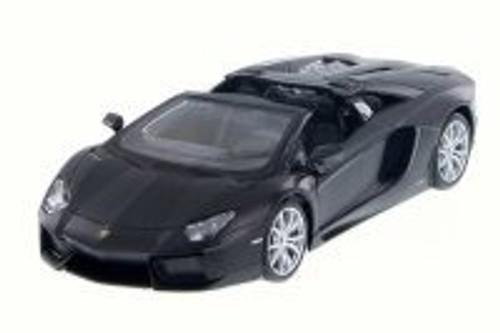 Lamborghini Aventador LP 700-4 Roadster Convertible, Matte Black - Maisto 31504MK - 1/24 Scale Diecast Model Toy Car