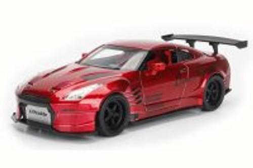 2009 Nissan GT-R Ben Sopra, Metallic Red - Jada 98558DP1 - 1/24 Scale Diecast Model Toy Car