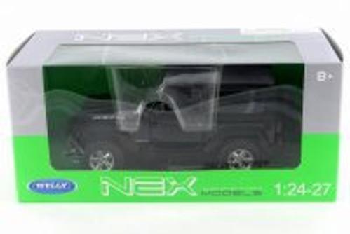2007 Jeep Wrangler, Black - Welly 22489HW-GRY - 1/24 Scale Diecast Model Toy Car