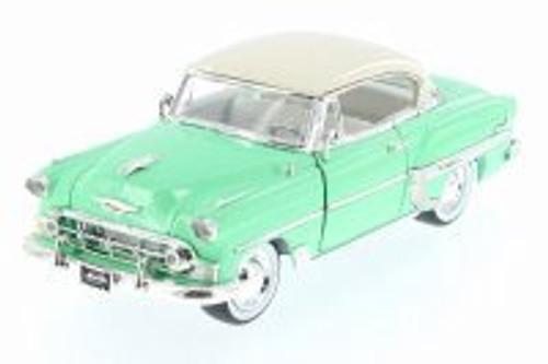 1953 Chevy Bel Air Hard Top w/ Baby Moon, Pastel Green - Jada 98884-MJ - 1/24 Scale Diecast Model Toy Car