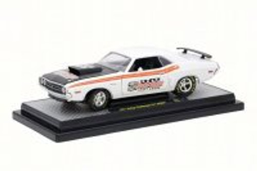 1971 Dodge Challenger R/T Hemi, Gloss White/Black - Castline M2 40300/57B - 1/24 Scale Diecast Model Toy Car