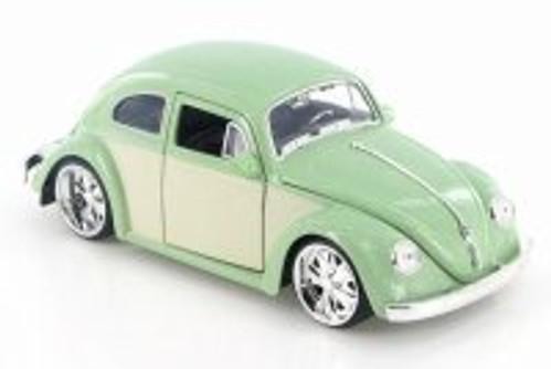 1959 Volkswagen Beetle Hard Top, Light Green - Jada 99049 - 1/24 Scale Diecast Model Toy Car