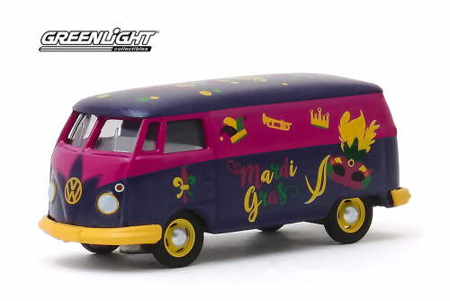 Volkswagen Type 2 Panel Van, Mardi Gras 2020 - Greenlight 30126/48 - 1/64 scale Diecast Model Toy Car