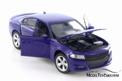 2016 Dodge Charger R/T, Purple - Welly 28079D - 1/24 Scale Diecast Model Toy Car