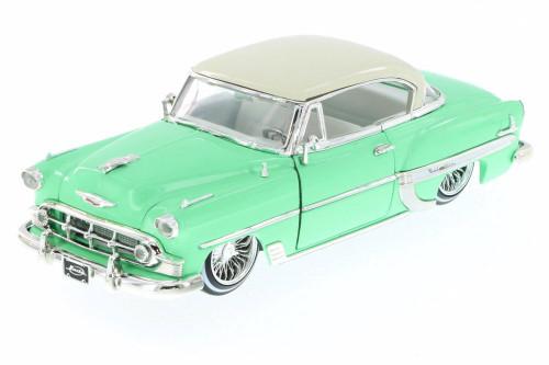 1953 Chevy Bel Air Hard Top Lowrider, Pastel Green - Jada 98918-MJ - 1/24 Scale Diecast Model Toy Car