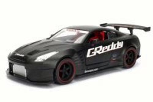 2009 Nissan GT-R Ben Sopra, Black - Jada 98558DP1 - 1/24 Scale Diecast Model Toy Car