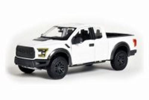 2017 Ford F-150 Raptor, White - Maisto 31266W - 1/24 Scale Diecast Model Toy Car