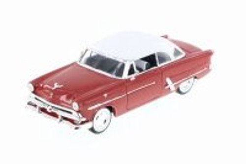 1953 Ford Crestline Victoria, Red w/ White - Welly 22093WR - 1/24 Scale Diecast Model Toy Car