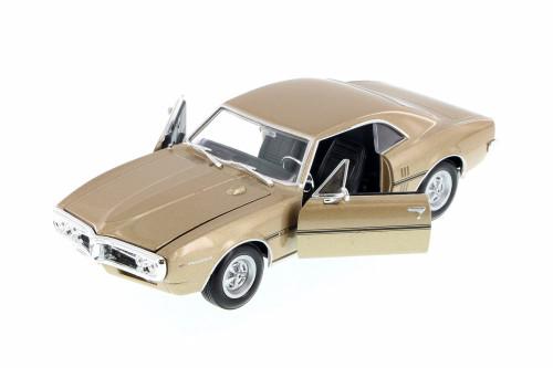1967 Pontiac Firebird, Gold - Welly 22502WG - 1/24 Scale Diecast Model Toy Car