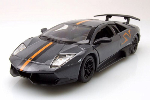 2009 Lamborghini Murcielago, Gray - Bburago 22120GY - 1/24 Scale Diecast Model Toy Car