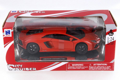 Lamborghini Aventador LP 700-4, Orange - New Ray 71253OR - 1/24 Scale Diecast Model Toy Car
