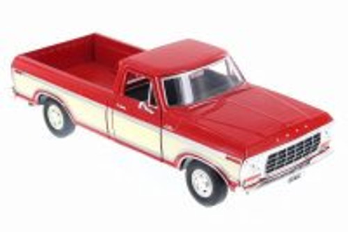 1979 Ford F-150, Red - Motor Max 74346D - 1/24 Scale Diecast Model Toy Car