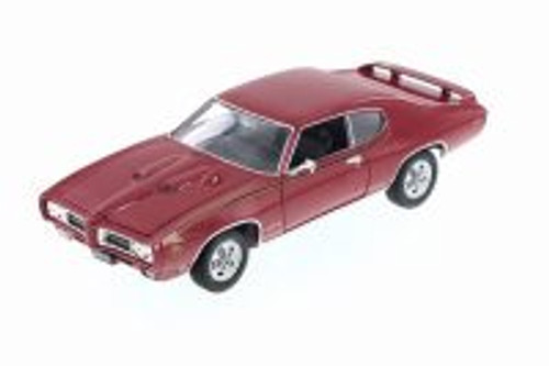 1969 Pontiac GTO, Red - Welly 22501WR - 1/24 Scale Diecast Model Toy Car
