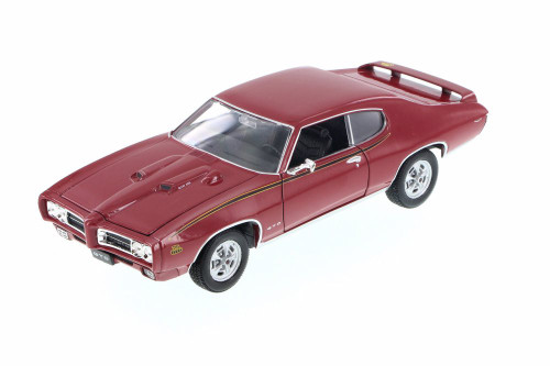 1969 Pontiac GTO, Red - Welly 22501WR - 1/24 Scale Diecast Model Toy Car