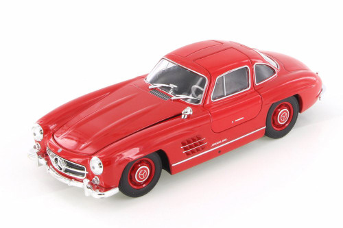 Mercedes-Benz 300SL, Red - Welly 24064/4D - 1/24 Scale Diecast Model Toy Car