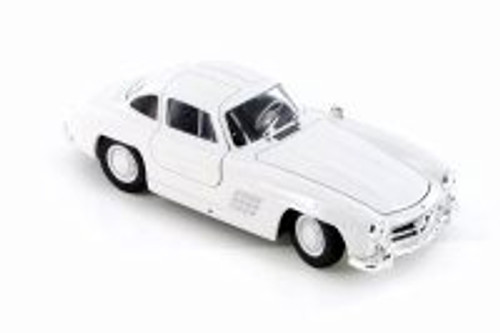 Mercedes-Benz 300SL, White - Welly 24064/4D - 1/24 Scale Diecast Model Toy Car