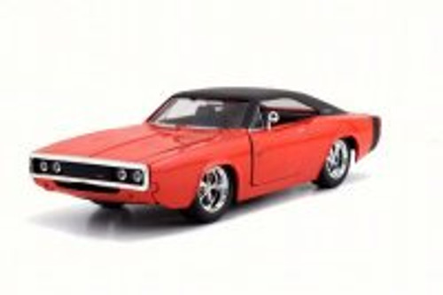 1970 Dodge Charger R/T Hard Top, Red - Jada 97594DP1 - 1/24 Scale Diecast Model Toy Car