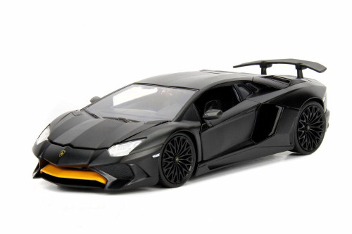 2017 Lamborghini Aventador SV Hard Top, Black - Jada 99995DP1 - 1/24 Scale Diecast Model Toy Car
