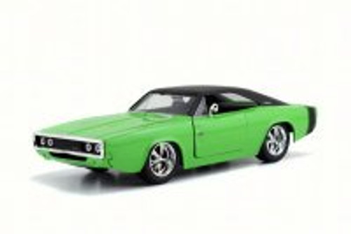 1970 Dodge Charger R/T Hard Top, Green - Jada 97594DP1 - 1/24 Scale Diecast Model Toy Car