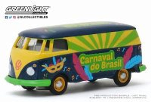 Volkswagen Type 2 Panel Van, Carnaval do Brasil 2020 - Greenlight 30127/48 - 1/64 scale Diecast Model Toy Car