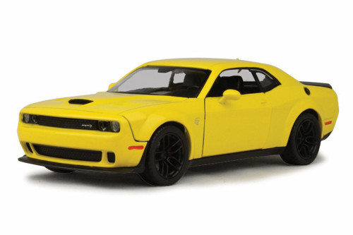 2018 Dodge Challenger SRT Hellcat Widebody, Bright Yellow - Motor Max 79350YL - 1/24 Scale Diecast Model Toy Car