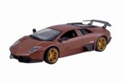 Lamborghini Murcielago LP SV Hard Top, Matte Brown - Motormax 79503 - 1/24 Scale Diecast Model Toy Car