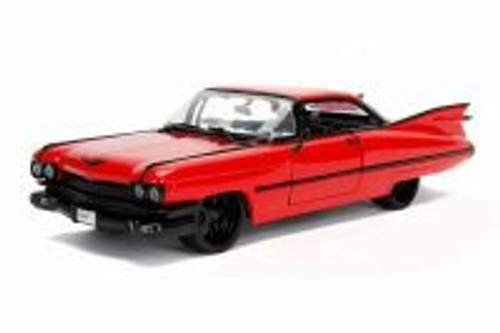 1959 Cadillac Coupe Deville Hard Top, Red - Jada 99989WA1 - 1/24 scale Diecast Model Toy Car