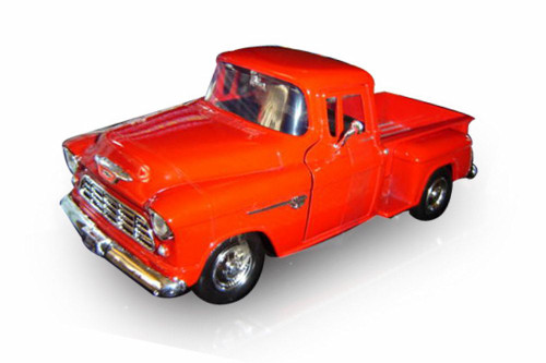 1955 Chevy 5100 Stepside Pick Up, Orange - Showcasts 73236AC/OR - 1/24 scale Diecast Model Toy Car