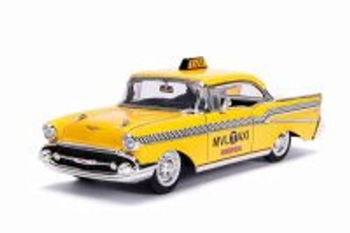 1957 Chevy Bel Air Taxi, Deadpool - Jada 30839 - 1/24 scale Diecast Model Toy Car