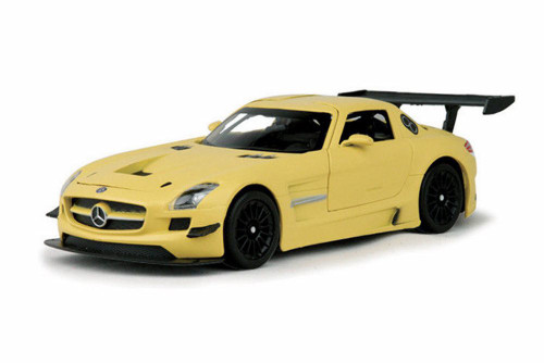 Mercedes- Benz SLS AMG Hard Top, Gold - Motormax 79501 - 1/24 scale Diecast Model Toy Car