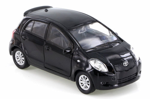Toyota Yaris, Black - Welly 42396D - Diecast Model Toy Car