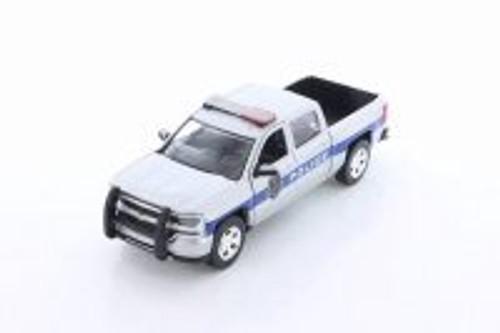 2017 Chevy Silverado, Silver - Motormax 76966 - 1/24 Scale Diecast Model Toy Car