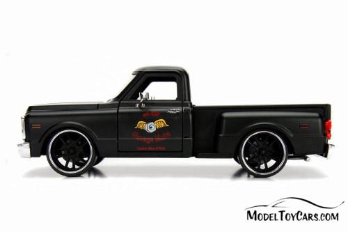 1969 Chevy C10 Stepside Pickup  Garage Nuts, Primer Black - Jada 99400DP1 - 1/24 scale Diecast Model Toy Car
