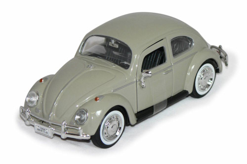 1966 Volkswagen Beetle Hard Top, Beige - Showcasts 73223W/BE - 1/24 scale Diecast Model Toy Car