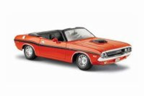 1970 Dodge Challenger R/T Convertible, Orange - Maisto 31264OR - 1/24 scale Diecast Model Toy Car