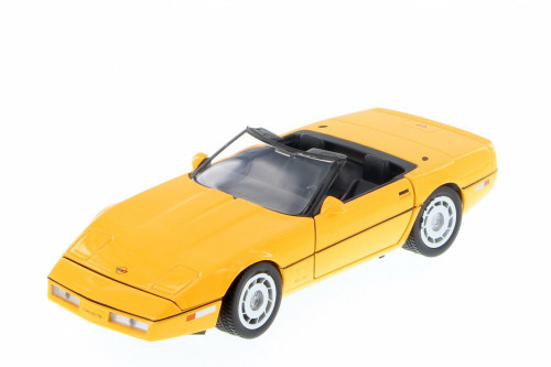 1986 Chevy Corvette Convertible, Yellow - Showcasts 73298YL/6 - 1/24 scale Diecast Model Toy Car