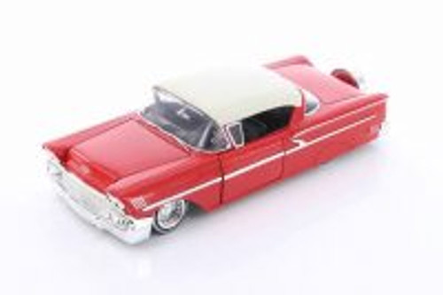 1958 Chevy Impala SS Hard Top, Red with White - Jada 98921-MJ - 1/24 scale Diecast Model Toy Car