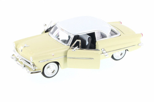 1953 Ford Crestline Victoria Hard Top, Cream - Welly 22093WCM - 1/24 scale Diecast Model Toy Car