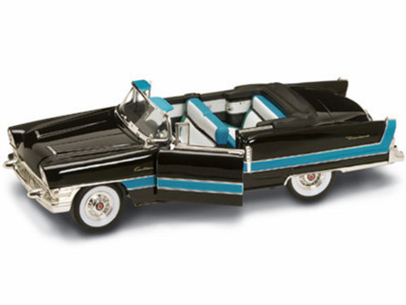 1955 Packard Caribbean Convertible, Black - Yatming 92618 - 1/18 Scale Diecast Model Toy Car