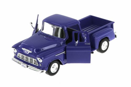 1955 Chevy 5100 Stepside Pickup Truck, Blue - Showcasts 73236AC/BU - 1/24 scale Diecast Model Toy Car