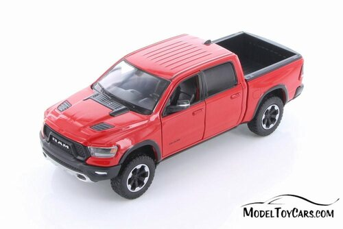2019 Dodge Ram 1500 Crew Cab Rebel Pickup Truck, Red - Showcasts 79358/16D - 1/24 scale Diecast Model Toy Car