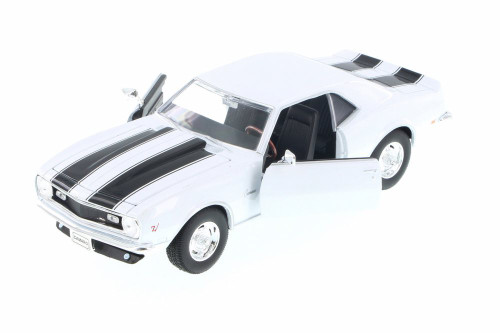 1968 Chevy Camaro Z28 Hard Top, White - Welly 22448WWT - 1/24 scale Diecast Model Toy Car