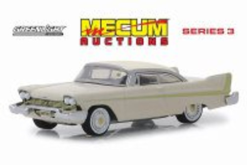 1958 Plymouth Fury Golden Commando, Sand Dune White - Greenlight 37170B/48 - 1/64 Scale Diecast Model Toy Car